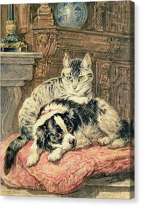 Friends Forever Canvas Print - Playtime by Henriette Ronner-Knip