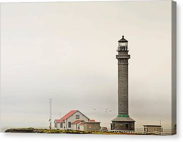 Point Arena Lighthouse Ca Canvas Print by Christine Till