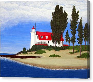 Point Betsie Lighthouse Canvas Print by Frederic Kohli