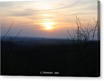 Point Mountain Sunset Canvas Print