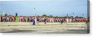 Polar Bear Plunge Canvas Print