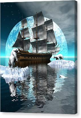 Polar Expedition Canvas Print by Claude McCoy