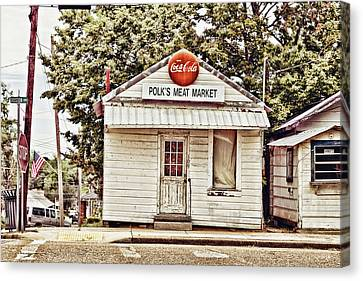 Polk's Meat Market Canvas Print by Scott Pellegrin