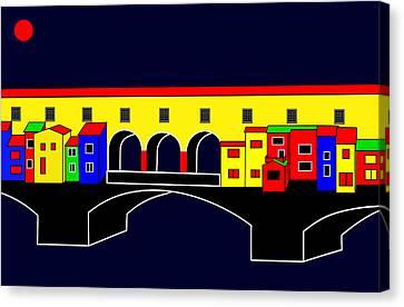 Ponte Vecchio Inspirations Canvas Print by Asbjorn Lonvig