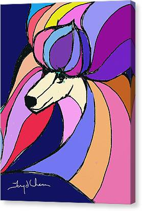 Poodle Colors Canvas Print by Terry Chacon