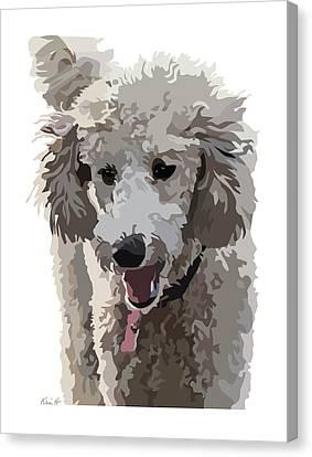 Poodle Portrait II Canvas Print by Kris Hackleman