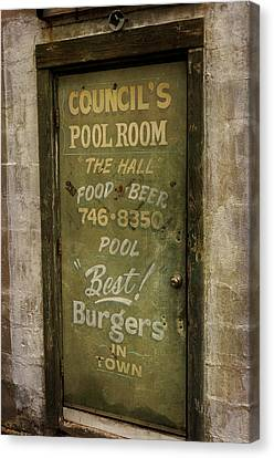 Pool Room Canvas Print by John Knapko