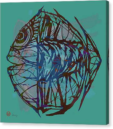 Pop Art - New Tropical Fish Poster Canvas Print by Kim Wang