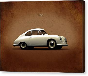 Classic Porsche 356 Canvas Print - Porsche 356 by Mark Rogan