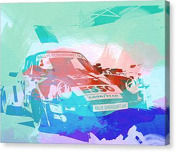 Porsche 911  Canvas Print by Naxart Studio