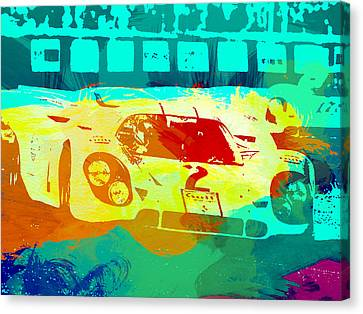 Porsche 917 Watercolor Canvas Print by Naxart Studio