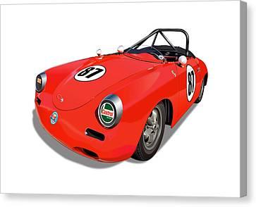 Porsche Super 90 Image Canvas Print by Alain Jamar