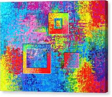Portals Of Color Canvas Print by Jeremy Aiyadurai