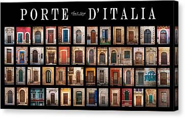 Porte D'italia Canvas Print by Elena E Giorgi