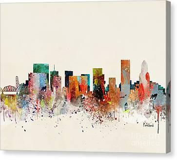 Portland Skyline Canvas Print by Bri Buckley