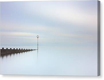 Canvas Print featuring the photograph Portobello Seascape by Grant Glendinning
