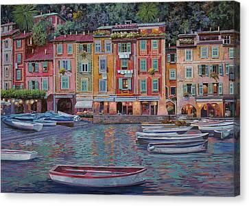 Portofino Al Crepuscolo Canvas Print