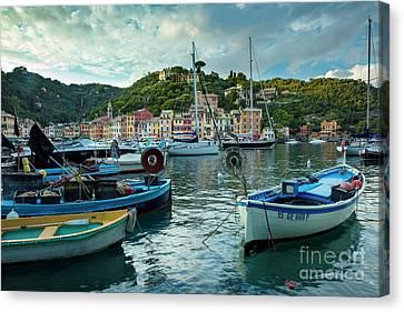 Portofino Evening Canvas Print by Brian Jannsen