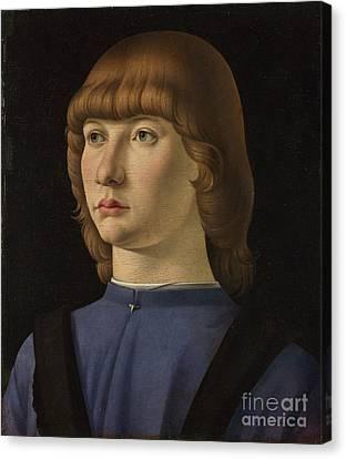 Portrait Of A Boy Canvas Print by Celestial Images