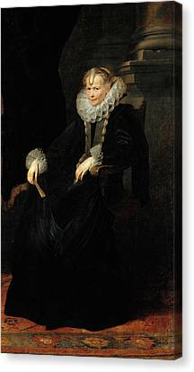 Portrait Of A Genovese Lady Canvas Print by Anthony van Dyck