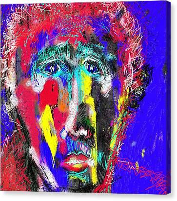 Portrait Of A Homeless Man Canvas Print
