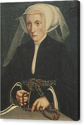 Portrait Of A Lady Holding A Rosary Canvas Print by MotionAge Designs
