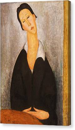 Portrait Of A Polish Woman Canvas Print by Amedeo Modigliani