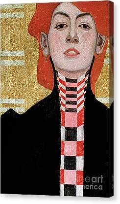 Portrait Of A Woman Canvas Print by Egon Schiele