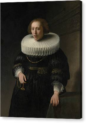 Portrait Of A Woman, Probably A Member Of The Van Beresteyn Family Canvas Print by Rembrandt