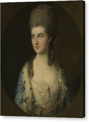 Portrait Of A Young Woman, Called Miss Sparrow Canvas Print by Thomas Gainsborough