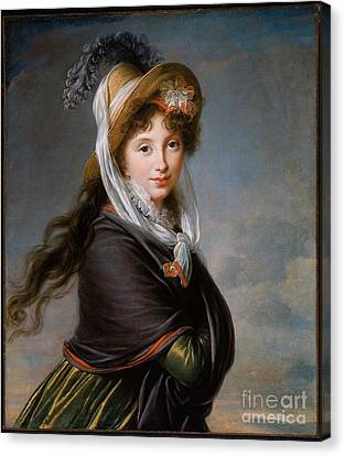 Marie-louise Canvas Print - Portrait Of A Young Woman by MotionAge Designs