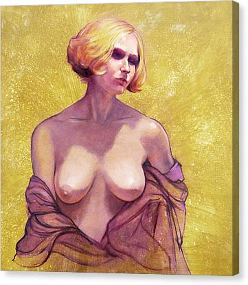 Portrait Of Amy Canvas Print by Roz McQuillan