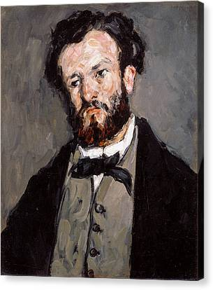 Portrait Of Anthony Valabregue Canvas Print by Paul Cezanne