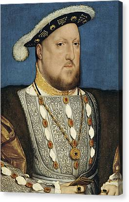 Portrait Of Henry Viii Of England  Canvas Print by Hans Holbein the Younger
