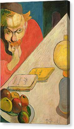 Portrait Of Jacob Meyer De Haan Canvas Print by Paul Gauguin