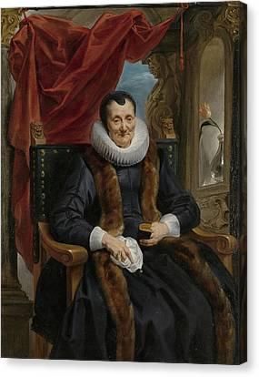 Portrait Of Magdalena De Cuyper Canvas Print by Celestial Images