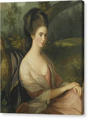 Charlotte Canvas Print - Portrait Of Miss Charlotte Dee by Thomas Hickey
