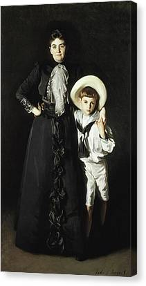 Portrait Of Mrs Edward L Davis And Her Son Livingston Davis Canvas Print by John Singer Sargent