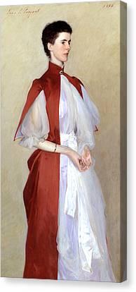 Portrait Of Mrs Robert Harrison Canvas Print by John Singer Sargent