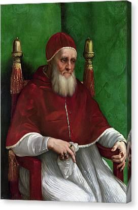Portrait Of Pope Julius II Canvas Print by Raffaello Sanzio