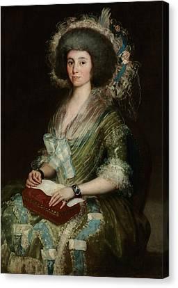 Portrait Of Senora Cean Bermudez Canvas Print by Francisco Goya