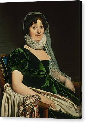 Portrait Of The Countess Of Tournon Canvas Print by Jean-Auguste-Dominique Ingres