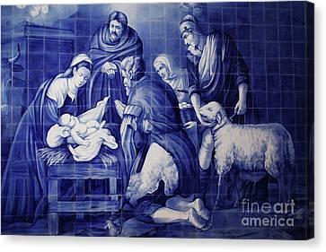 Portuguese Azulejo Tiles Canvas Print by Gaspar Avila