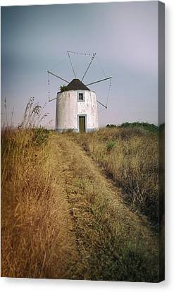 Canvas Print featuring the photograph Portuguese Windmill by Carlos Caetano