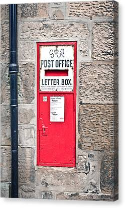 Post Box Canvas Print by Tom Gowanlock