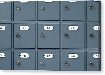 Post Office Boxes Canvas Print by Allan Swart