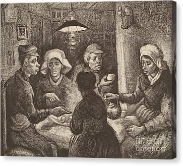 Potato Eaters, 1885 Canvas Print by Vincent Van Gogh
