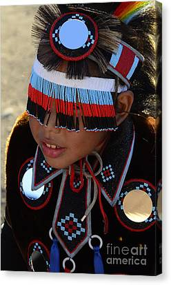 Fancy-dancer Canvas Print - Pow Wow Beauty Of The Past 3 by Bob Christopher