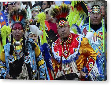 Fancy-dancer Canvas Print - Pow Wow Beauty Of The Past 8 by Bob Christopher