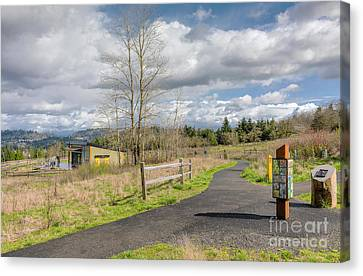 Powell Butte Park In Portland Oregon. Canvas Print by Gino Rigucci